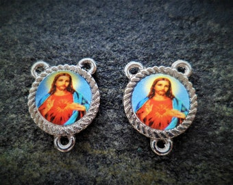 Heart of Jesus 17 x 12 mm Rosary connector
