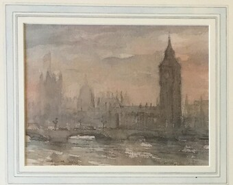 Watercolor of London by John Greensmith