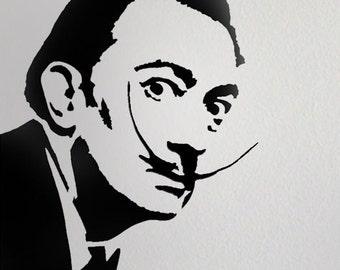 Salvador Dali stencil, Home decor stencil, art stencil, Paint, Ideal Stencils