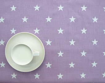 Tablecloth purple lillac white stars , table runner , napkins , curtains , pillows available, great GIFT