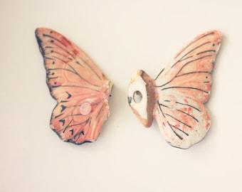 Rose papillon - photo 8 x 10 - fine art print - jouet papillon - art de la chambre de bébé - trouve article - broken wings