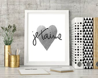 je'taime,words,Love,Heart,gift for girlfriend,girls,french,Paris,Printable,Art,Wall,gift,Download Printable,Quotes,Home Decor,gift for girls