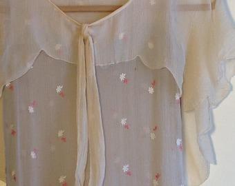 VINTAGE Roaring 20's Silk FLAPPER DRESS Beautiful As Is