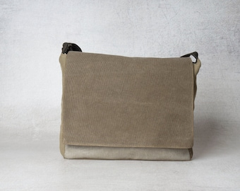 mens canvas messenger bag, mens messenger bag, upcycled bag, messenger bag men, vegan messenger bag, messenger bag laptop