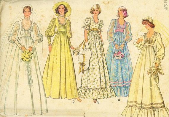 Boho Wedding Dress Pattern, Simplicity 7390, Bohemian, Peasant Style ...