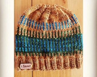 Ginger Colorwork Fair Isle Beanie Hat