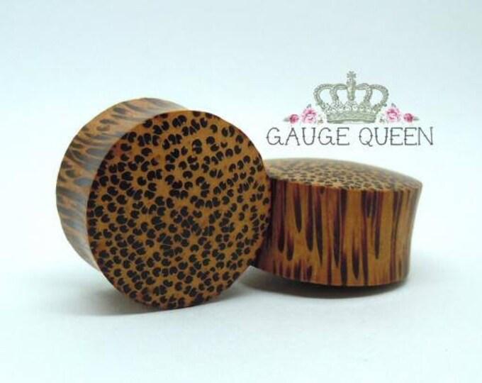 "Coconut Wood Plugs / Gauges. 9/16"" / 14mm, 5/8"" / 16mm, 7/8"" / 22mm, 1"" / 25mm"
