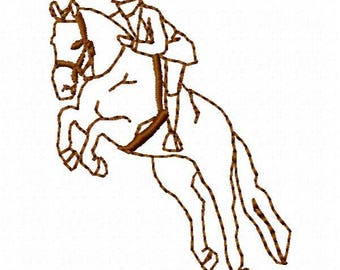 Jumping Horse Embroidery Design - Instant Download