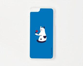 Cat iPhone 6 Plus Case - Kitty Love iPhone 6s Plus Case - Romantic Cat iPhone Case - Hard Plastic or Rubber