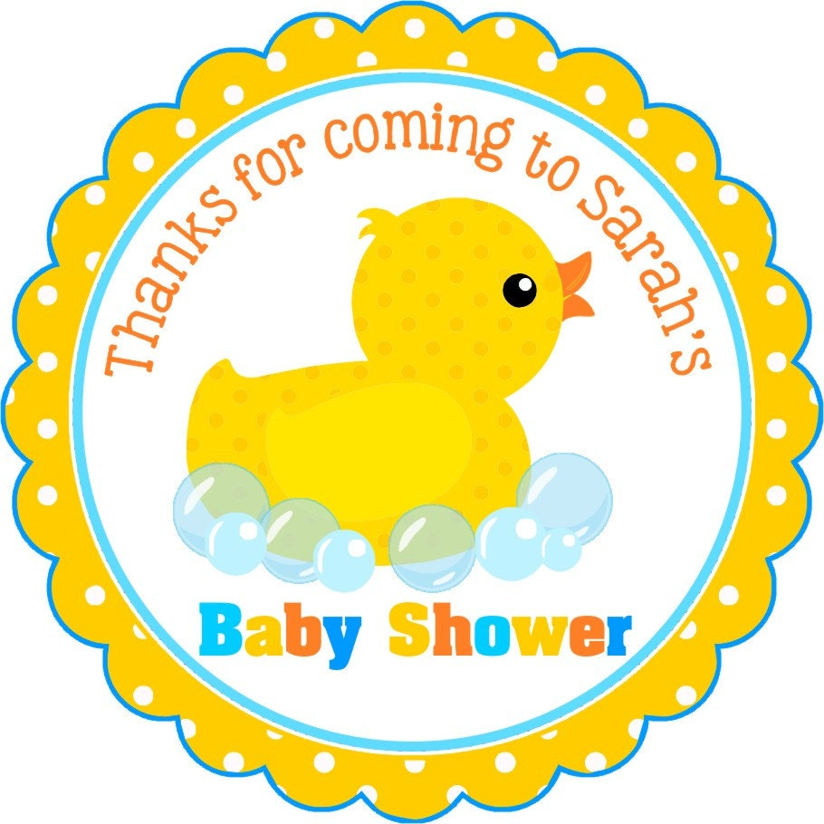 Rubber Ducky Stickers Baby Shower Stickers Personalized