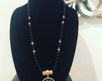 Lion of judah necklace rasta necklace Haile Selassie