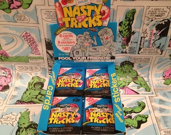 Nasty Tricks Trading Cards from the 80s