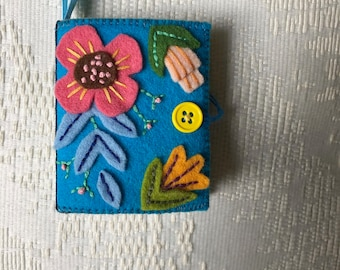 Handmade 100% Pure European Felted Wool Needle Book // Notebook // Gifts For Her