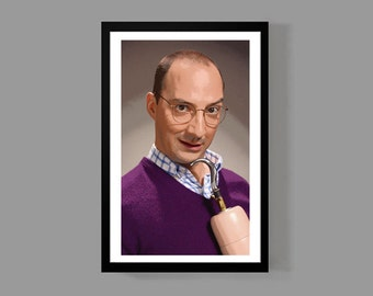 Arrested Development TV Poster - Buster Bluth Custom Poster Print - Funny, Portrait, Cult Classic, Comedy, Quirky
