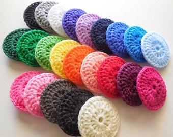 Crochet Dish Scrubbies - Set of 30 - Party Favors - Choose Your Colors - Nylon Pot Scrubber