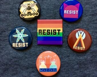 Insurgent Cat Resist Buttons - Full Set - 6 buttons
