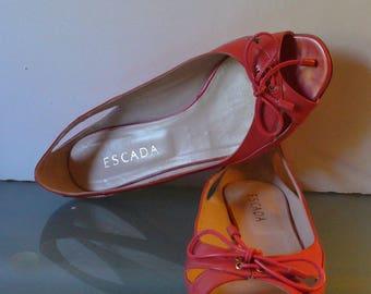 Escada Made in Italy  Leather  Flats Size 38.5 EU