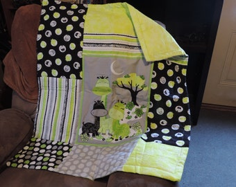 Giraffe Family Childrens Quilt