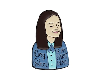 Rory Gilmore The Gilmore Girls enamel lapel pin