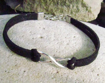 infinity bracelet men infinity bracelet men bracelet black bracelet infinity jewelry friendship bracelet leather bracelet men black bracelet