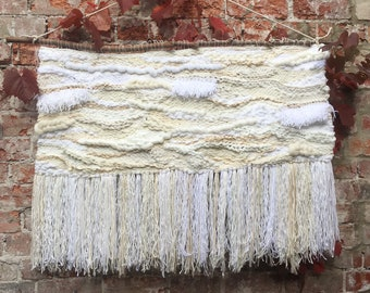 Woven wall hanging/ weaving - Scandi extra large white- for Jessica