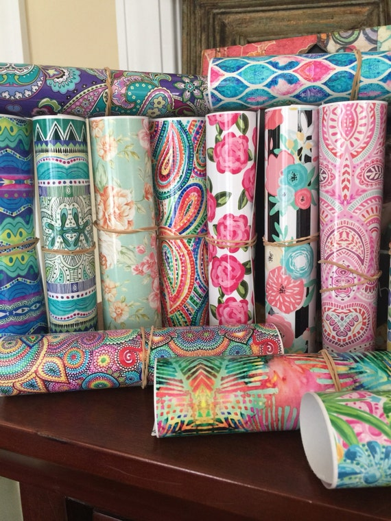 Beautiful Vibrant Patterned Craft Vinyl and Heat Transfer Vinyl Sheets and Rolls in Patterns 95-126