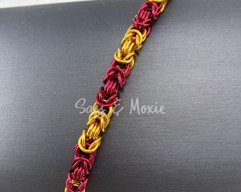 Red & Gold Byzantine Bracelet