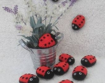 Knitted  Ladybirds