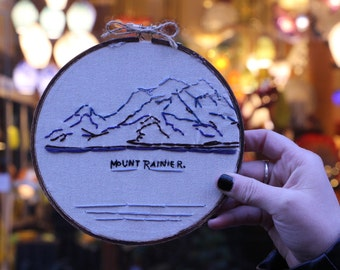 The Mountain's Out Hand Embroidery   Hand Embroidery   Embroidery