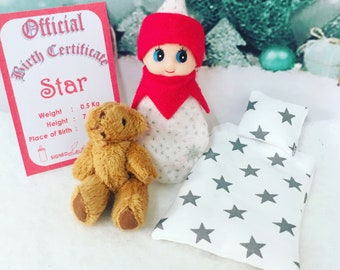 Baby Elf Star The Shelf Sitter Doll With Accessories