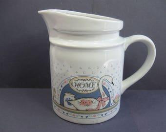 Vintage Home Ceramic Pitcher, Water Jug, Milk and Cream