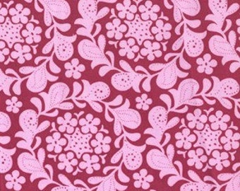 MEADOWSWEET 2 by Sandi Henderson, Henna Garden in raspberry, 1 yard