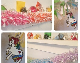 Unicorn ombre multi-colour Ecotinsel Garland