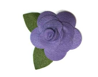 Small Lavender Rose Dog Collar Flower Removable