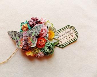 Schmetterling Kollektion Grün Petrol gelb Mint orange rosa Merlot Rosen schillernden Sternenstaub Glitzer Handarbeit Maulbeerseide blumencorsage