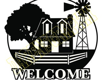 "DXF File ""Welcome Farm"""