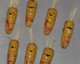 Indian Corn Magnets - Set of 7