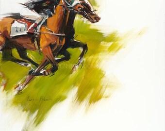 Horse Racing Art Fine Art Print