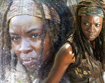 Walking Dead Graphic Art Soap Bar - Michonne Rosita Sasha - Novelty Soap - AN AJSWEETSOAP EXCLUSIVE