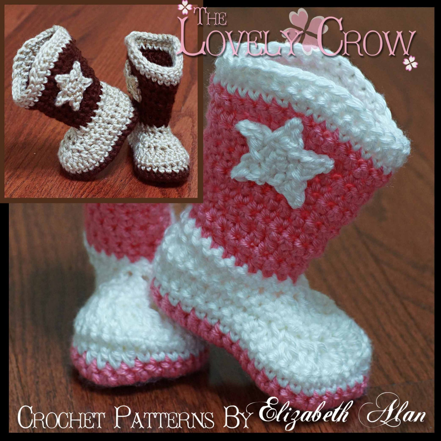 Crochet Pattern Cowboy Boots TODDLER BOOT SCOOTN Boots digital from ...