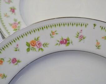Vintage Abingdon Fine China Dinner Plate Floral Design Japan Replacement PanchosPorch
