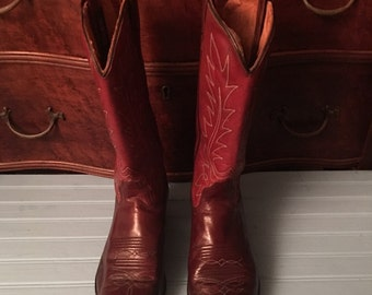 Dan Post Cowboy Boots Size 8 C  Brown Leather
