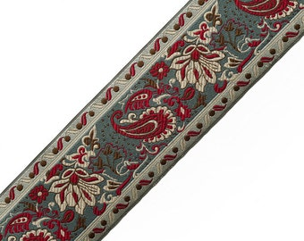 "2-1/2"" Heavy Jacquard Ribbon Trim by yard, AAA-F-05983"