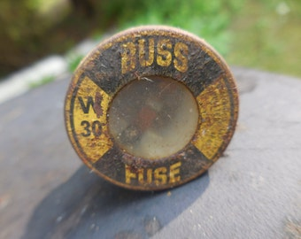 Vintage Buss Fuse Glass and Metal Repurpose Art Project Screw in 30 Reuse Crafting Steampunk 1940s to 1960s