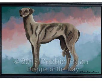 Sloughi Dog Framed Canvas Print Wall Art