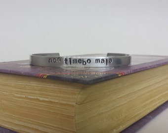 Non Timebo Mala - I Will Fear No Evil - Supernatural Inspired Aluminum Bracelet Cuff - Hand Stamped