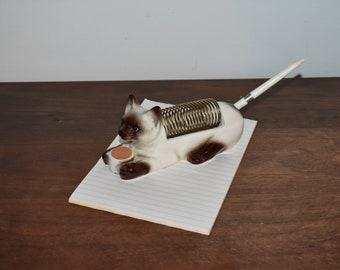 Siamese Cat Letter Holder // Cat Desk Art // Letter Holder