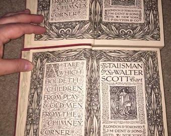 Sir Walter Scott 2 Books Kenilworth and The Talisman JM Dent Sons 1923 Great Britain