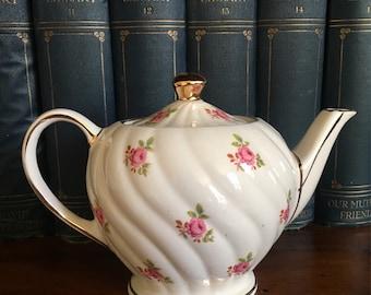 Sadler Vintage Swirl Rosebud Small Teapot