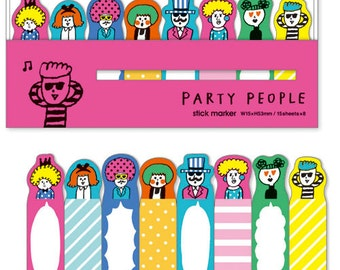 Party People Stick Marker Index Markers (120 sheets) Mind Wave Sticky Notes (52298)